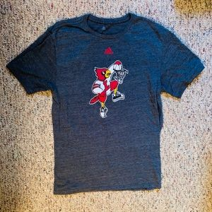Louisville Cardinal Adidas t shirt